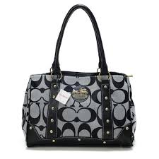 Coach Legacy In Signature Studded Small Black Satchels BOY