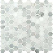 tile floor. White In X Mm Honed Marble Mesh Blue Hexagon Tile Dark Floor Tiles N