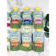Trái cây nghiền Heinz cho bé từ 4 tháng
