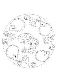 Mandala Kleurplaten Crafts Patterns Animals Herfst Herfst
