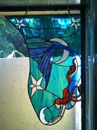 Mermaid Stained Glass Pattern Interesting Decoration