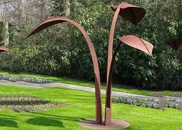 modern style corten steel sculpture