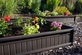 build a raised garden bed on uneven ground in brilliant