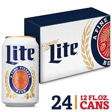 24 Pack Of Natty Light Miller Lite Beer American Lager 24 Pack Light Beer 12 Fl