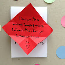 personalised origami heart valentines day card