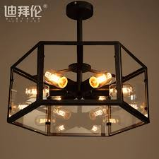 get ations dibai lun american retro industrial chandelier black chandelier nordic ikea living room bedroom study lamp light