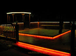 led outdoor deck lighting. LED Deck Lighting With RGB Flexible Strips Under Railings And Platforms. Led Outdoor
