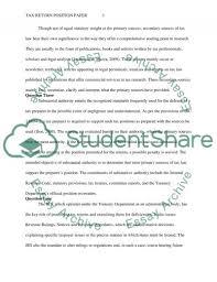 tax return position paper essay example topics and well written tax return position paper essay example