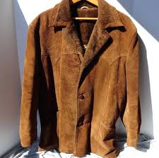 mens faux fur lined coat sears leather suede jacket faux fur lined size l leather