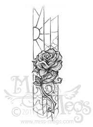 glass rose sketch