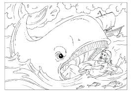Bible Story Coloring Pages Jonah And The Whale Muzikantuinfo