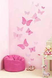 Small Picture FunToSee Butterfly Wall Stickers Vintage Pink Amazoncouk Baby