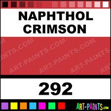Naphthol Crimson Soft Body Acrylic Paints 292 Naphthol