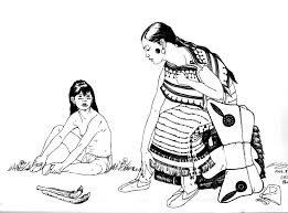 Small Picture Indian Coloring pages for adults JustColor