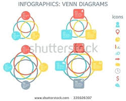 Elements Of A Venn Diagram Modern Colorful Set Of Elements For Business Including Four Diagrams