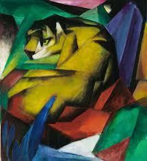 tiger 1912 oil on canvas franz marc