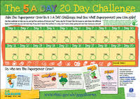 Fruit And Vegetable Challenge Chart 5 A Day Your Way