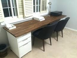 ikea desk office. Ikea Double Desk Office Tables Uk Furniture 98 Inch Oak Numerar Butcher Hemnes