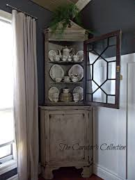 Antique Corner Desk decorating using astounding corner hutch for cozy home furniture 7551 by xevi.us