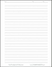 20 Handwriting Practice Sheet Blank Handwriting Worksheets