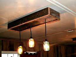 wooden light fixtures with mason jar for kitchen ideas