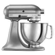 kitchenaid 5 quart mixer. kitchenaid ksm150pscu contour silver 5-quart artisan tilt-head stand mixer kitchenaid 5 quart t