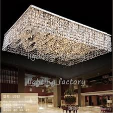 new flush mount living room light rectangular crystal chandelier ceiling fixtures large modern light hotel lobby chandelier girls room chandelier country