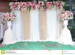 Wedding Ceremony Flower Arrangements Backdrop Flowers Arrangement