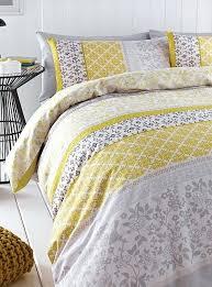 asda bird double duvet cover yellow oriental set bed linen