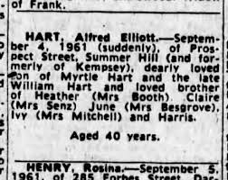 Death Alfred Elliot HART 1961 - Newspapers.com