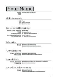 Word Doc Resume Template Noxdefense Com