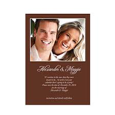 Wedding Announcement Photo Cards Chocolate Wedding Announcement Small Stationery Card