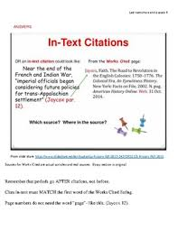 Make Citations Match The Works Cited Page In Mla Format