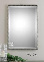 brushed nickel mirror. Uttermost Sherise Brushed Nickel Mirror UT01113 From Walter E. Smithe Furniture + Design N