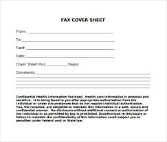 Fax Civer Sheet Samples Of Cover Sheet