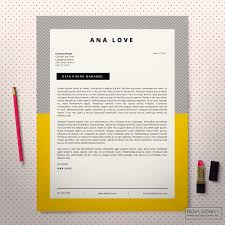 Cover Letter For Resume Template Resume Template CV Template Design Cover Letter Modern POP 91