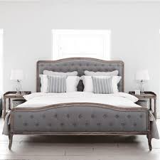 Chantal Bed   Superking Grey Linen