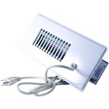 ac vent fan. null cyclone booster fan plus with built-in thermostat in white ac vent