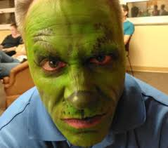 during a recent rehearsal actor joe rose donned his grinch makeup