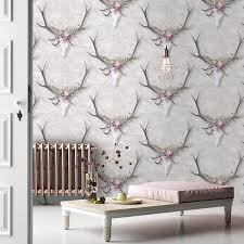Small Picture Designer Stag Head Wallpaper Yorkshire UK United Furnishings