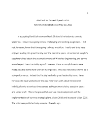 farewell speech pdf format 1 adels retirement dinner speech