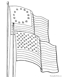 American Flag Scouting American Flag Coloring Page American