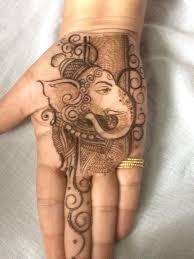 Ganpati Mehndi Design Ganesha With Mehndi Palm Mehndi Design Henna Designs