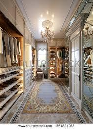 luxurious walk in closet. Exellent Walk Luxurious Walkin Closet Wardrobe Room In Large House Classic Style 3d  Render And Walk In Closet I