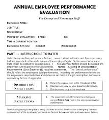Job Performance Evaluation Form Templates Simple Manager Tools Performance Review Template Appraisal Self Evaluation