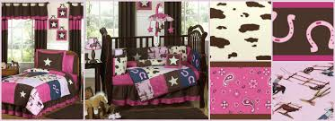 Western Cowgirl Pink and Brown Girls Baby and Teen Bedding Sets