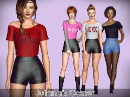 Juliana Sims: groupie outfit | Sims, Sims 4 cc, Sims 3