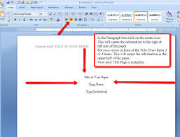 apa format on word apa style and format