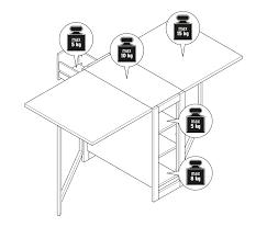 Klappbarer Esstisch Mit Stauraum Ca 160 X 75 Cm Online Bestellen