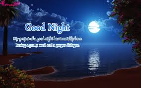good night wishes messages with night moon pictures
